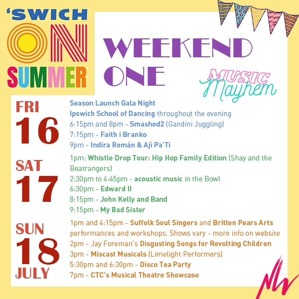 What's On: 'Swich On Summer Weekend One