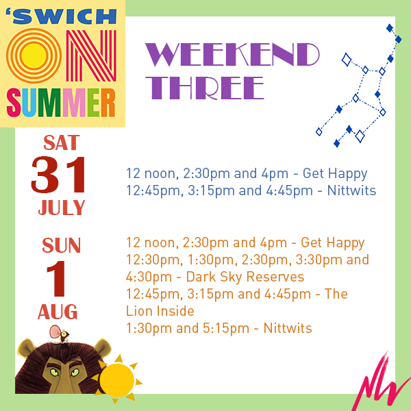 What's On: 'Swich On Summer Weekend Three