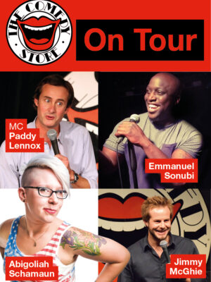'The Comedy Store On Tour: MC Paddy Lennox, Emmanuel Sonubi, Abigoliah Schamaun and Jimmy McGhie.'